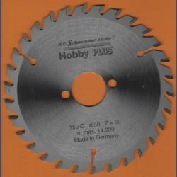 H.O. Schumacher+Sohn Hartmetallbestücktes Kreissägeblatt Hobby PLUS – Ø 150 mm, Bohrung 30 mm