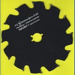 H.O. Schumacher+Sohn Hartmetallbestücktes Kreissägeblatt Hobby Grobzahn antihaftbeschichtet – Ø 151 mm, Bohrung 19 mm (3/4'')