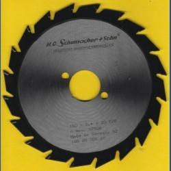H.O. Schumacher+Sohn Hartmetallbestücktes Kreissägeblatt Standard Mittelzahn – Ø 160 mm, Bohrung 30 mm