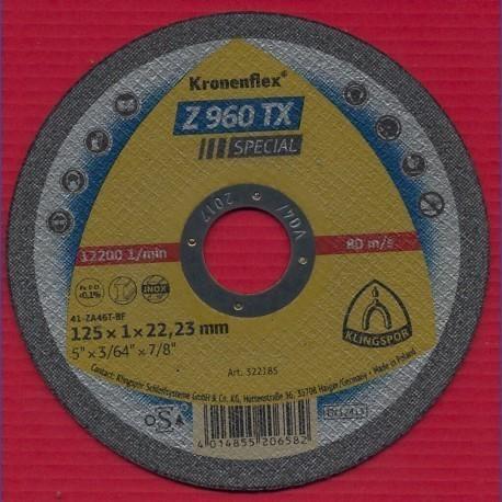 KLINGSPOR Kronenflex Dünne Trennscheibe Z 960 TX Special Ø 125 mm für Edelstahl