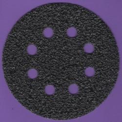 KLINGSPOR Haft-Schleifscheiben SC – Ø 125 mm 8-fach gelocht, K24 extra grob