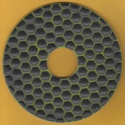 rictools Haft-Diamant-Schleifpad trocken Ø 125 mm – K100 mittelgrob