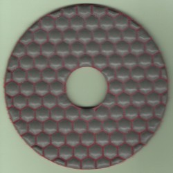 rictools Haft-Diamant-Schleifpad trocken Ø 125 mm – K400 extra fein