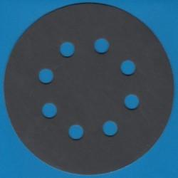 KLINGSPOR Haft-Schleifscheiben SC – Ø 125 mm 8-fach gelocht, K800 superfein