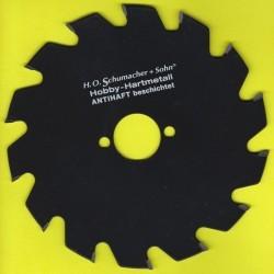 H.O. Schumacher+Sohn Hartmetallbestücktes Kreissägeblatt Hobby Grobzahn antihaftbeschichtet – Ø 170 mm, Bohrung 30 mm