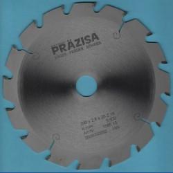 PRÄZISA Jännsch Hartmetall-Kreissägeblatt Type F Flachzahn grob – Ø 200 mm, Bohrung 25 mm