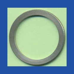 rictools Präzisions-Reduzierring gerändelt dünn – 30 mm / 24 mm, Stärke 1,2 mm