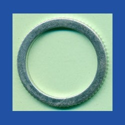 rictools Präzisions-Reduzierring gerändelt sehr stark – 25,4 mm (1'') / 20 mm, Stärke 1,8 mm