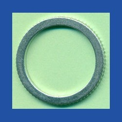 rictools Präzisions-Reduzierring gerändelt dünn – 25 mm / 20 mm, Stärke 1,2 mm