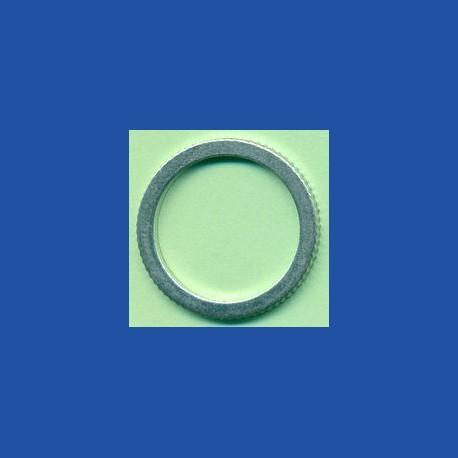 rictools Präzisions-Reduzierring gerändelt sehr dünn – 25 mm / 20 mm, Stärke 1,0 mm