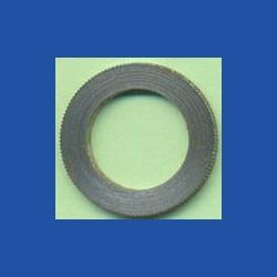 rictools Präzisions-Reduzierring gerändelt sehr dünn – 20 mm / 13 mm, Stärke 1,0 mm