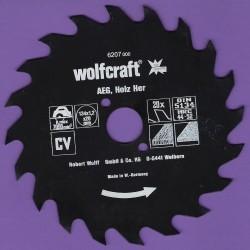 wolfcraft Serie rot Handkreissägeblatt CV mit Antihaft-Beschichtung sehr grob – Ø 134 mm, Bohrung 20 mm