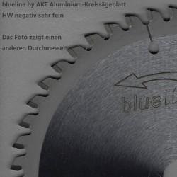 blueline by AKE Aluminium-Kreissägeblatt HW negativ sehr fein – Ø 225 mm, Bohrung 30 mm