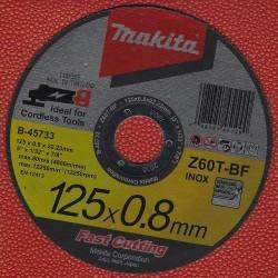 Makita Extra dünne Trennscheibe Z60T-BF INOX Ø 125 mm für Edelstahl