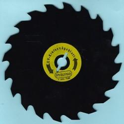 PRÄZISA Jännsch Chrom-Vanadium-Kreissägeblatt Type A Wolfszahn grob antihaftbeschichtet – Ø 156,5 mm, Bohrung 12,75 mm (1/2'')