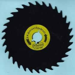 PRÄZISA Jännsch Chrom-Vanadium-Kreissägeblatt Type A Wolfszahn grob antihaftbeschichtet – Ø 140 mm, Bohrung 19 mm (3/4'')