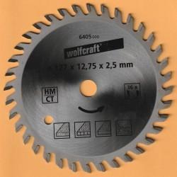 wolfcraft Serie orange Handkreissägeblatt HM Viel-Wechselzahn – Ø 127 mm, Bohrung 12,7 mm (1/2'')