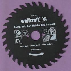 wolfcraft Serie rot Handkreissägeblatt CV mit Antihaft-Beschichtung grob – Ø 140 mm, Bohrung 20 mm
