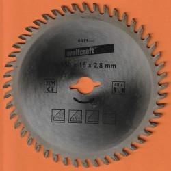 wolfcraft Serie orange Handkreissägeblatt HM Viel-Wechselzahn – Ø 150 mm, Bohrung 16 mm