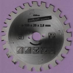 wolfcraft quattro Serie lila Hartmetallbestücktes Universal-Kreissägeblatt – Ø 160 mm, Bohrung 20 mm