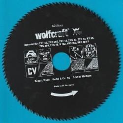 wolfcraft Serie blau Handkreissägeblatt CV mit Antihaft-Beschichtung fein – Ø 160 mm, Bohrung 25 mm