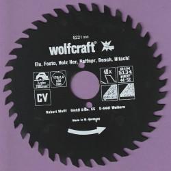 wolfcraft Serie rot Handkreissägeblatt CV mit Antihaft-Beschichtung grob – Ø 170 mm, Bohrung 30 mm