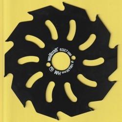 wolfcraft Serie gelb Handkreissägeblatt HM Grobzahn antihaftbeschichtet – Ø 190 mm, Bohrung 30 mm