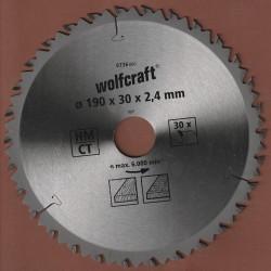 wolfcraft Serie braun Zuschnittsägeblatt HM Wechselzahn – Ø 190 mm, Bohrung 30 mm
