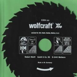 wolfcraft Serie grün Handkreissägeblatt HM Wechselzahn antihaftbeschichtet – Ø 235 mm, Bohrung 35 mm