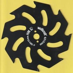 wolfcraft Serie gelb Handkreissägeblatt HM Grobzahn antihaftbeschichtet – Ø 150 mm, Bohrung 13 mm