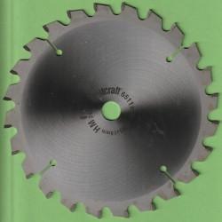 wolfcraft Serie grün Standard Plus Kapp- und Gehrungssägeblatt HM Wechselzahn negativ – Ø 205 mm, Bohrung 18 mm