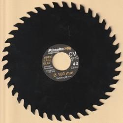 Piranha by BLACK+DECKER Kreissägeblatt Chrom-Vanadium-Stahl antihaftbeschichtet grob – Ø 160 mm, Bohrung 25 mm