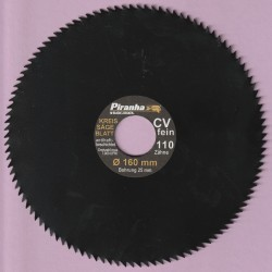 Piranha by BLACK+DECKER Kreissägeblatt Chrom-Vanadium-Stahl antihaftbeschichtet extra fein – Ø 160 mm, Bohrung 25 mm