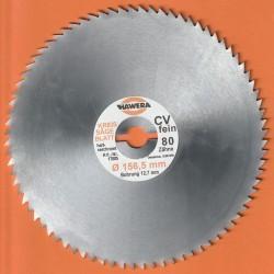 HAWERA Kreissägeblatt Chrom-Vanadium-Stahl hart-verchromt Typ B sehr fein – Ø 156,5 mm, Bohrung 12,7 mm (1/2'')*