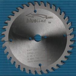 blueline by AKE Handkreissägeblatt HW Wechselzahn fein – Ø 160 mm, Bohrung 16 mm