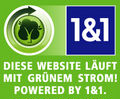 Diese Website läuft mit grünem Strom! Powered by 1&1.