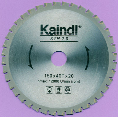 Das Kaindl XTR 2.0 Multisägeblatt für Kreissägen  150 mm, Bohrung 20 mm