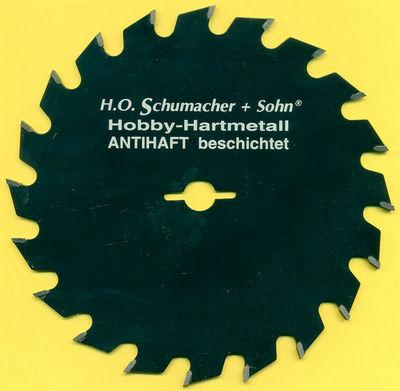 H.O. Schumacher+Sohn Hartmetallbestücktes Kreissägeblatt Hobby Feinzahn Ø 156,5 mm, Bohrung 12,7 mm (1/2'')