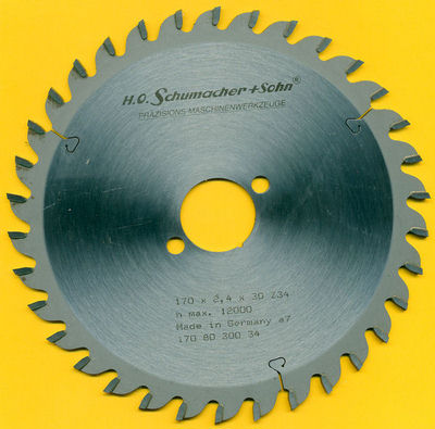 H.O. Schumacher+Sohn Hartmetallbestücktes Kreissägeblatt Standard Feinzahn Ø 170 mm, Bohrung 30 mm