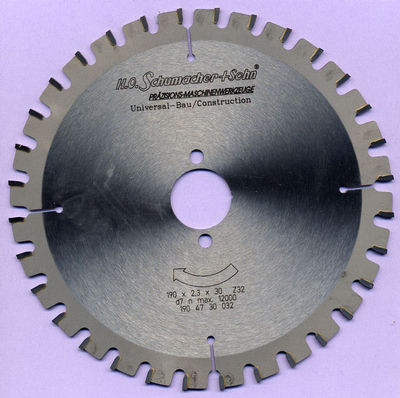 H.O. Schumacher+Sohn Universal-Bau-Kreissägeblatt Ø 190 mm, Bohrung 30 mm