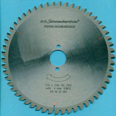 H.O. Schumacher+Sohn Hartmetallbestücktes Kreissägeblatt COMBI Ø 210 mm, Bohrung 30 mm