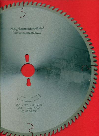 H.O. Schumacher+Sohn Hartmetallbestücktes Präzisions-Kreissägeblatt Feinstzahn / Typ VW Feinstzahn, Ø 300 mm, Bohrung 30 mm