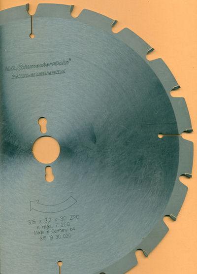 H.O. Schumacher+Sohn Hartmetallbestücktes Bau-Kreissägeblatt, Ø 315 mm, Bohrung 30 mm