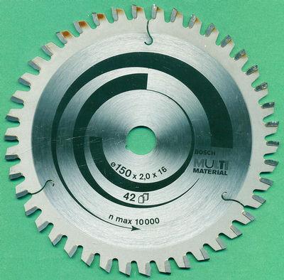 BOSCH MULTI MATERIAL Kreissägeblatt Ø 150 mm, Bohrung 16 mm