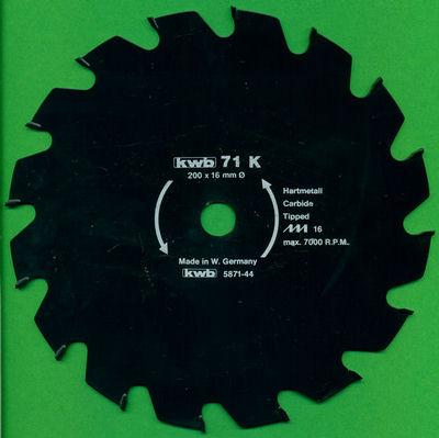 kwb Bauholzblatt Typ K Hartmetall Grobzahn antihaftbeschichtet , Ø 200 mm, Bohrung 16 mm