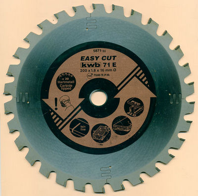 kwb EASY CUT Allzweckblatt Typ E Ø 200 mm, Bohrung 16 mm