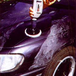 Auto polieren mit dem Polierfell