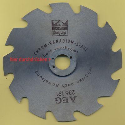 AEG Kreissägeblatt mit speziellen Flanschen von vorn