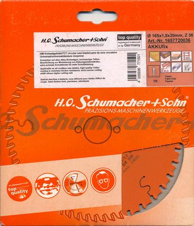 H.O. Schumacher+Sohn Hartmetallbestückte Kreissägeblatt AKKUfix
