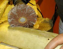 Schleifen einer Holzschale mit dem rictools Schleifstern